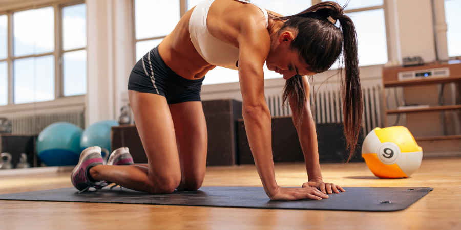 woman exercising who is not afraid of looking bulky or manly